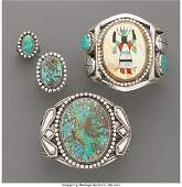 70015: Four Southwest Jewelry Items c. 1940 and 1970
