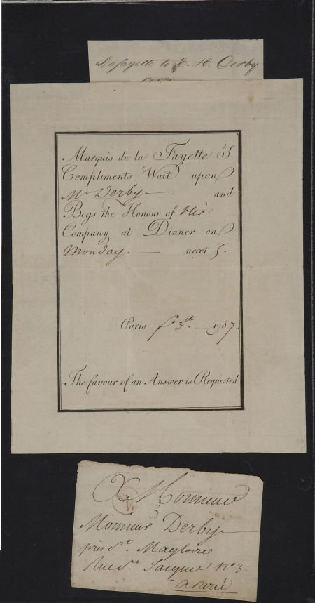 35005: [Marquis De Lafayette] Dinner Invitation Issued