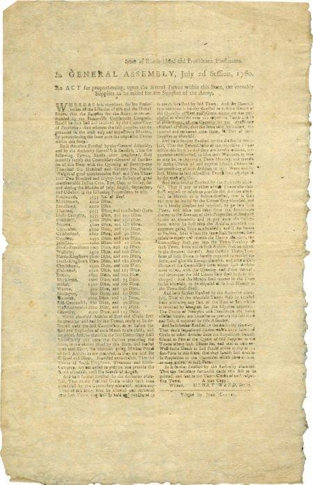 35012: [Henry Ward] Rhode Island Revolutionary War Broa