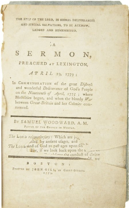 "35019: [Revolutionary War Pamphlet] Samuel Woodward: ""A"