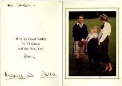 Prince Charles and Princess Diana Christmas Card