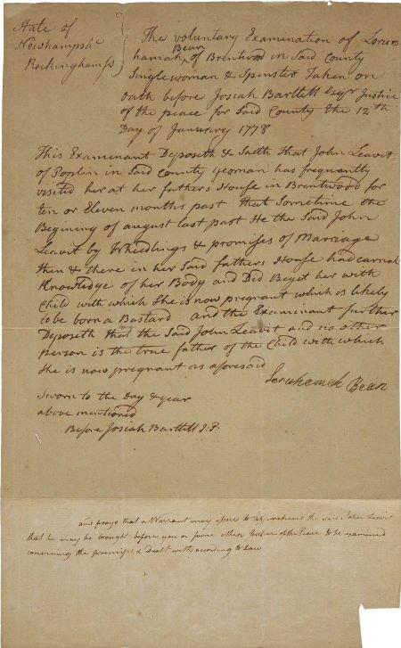 35022: Josiah Bartlett Autograph Document Signed Twice.