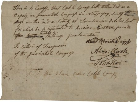 35023: [Declaration Signers] Abraham Clark and John Har