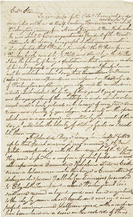 35249: [George Washington] Autograph Letter Regarding G