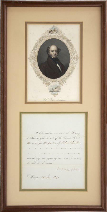 35256: Martin Van Buren Partially Printed Document Sign