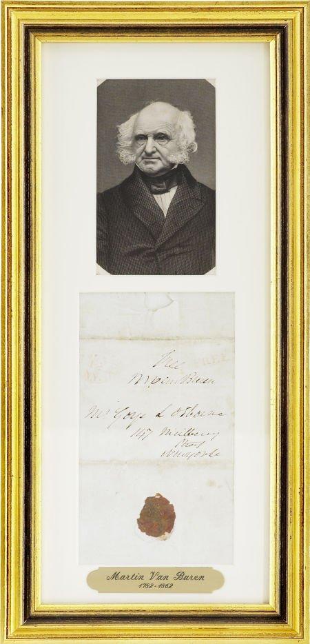 35257: Martin Van Buren Signed Free Frank and Autograph