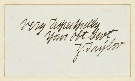 """35259: Zachary Taylor Signature, """"Very Respectfully/ Yo"""