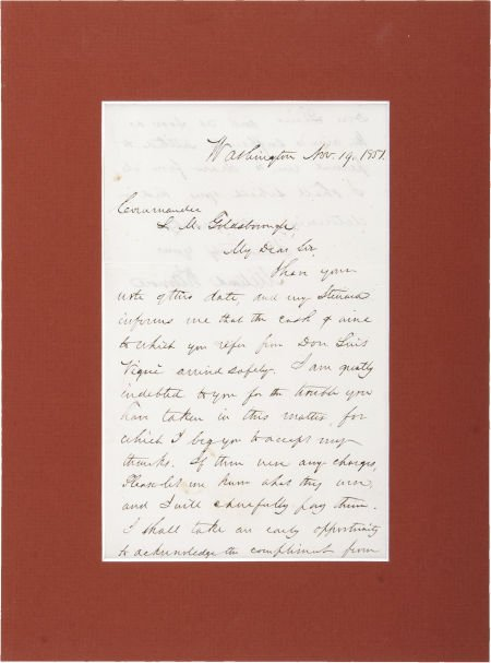 35260: Millard Fillmore Autograph Letter Signed as the