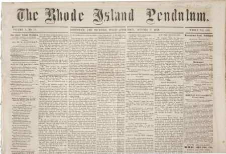 35267: [Abraham Lincoln] Issue of The Rhode Island Pend