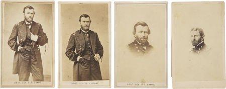 35270: Ulysses S. Grant, Four Cartes de Visite, as Gene