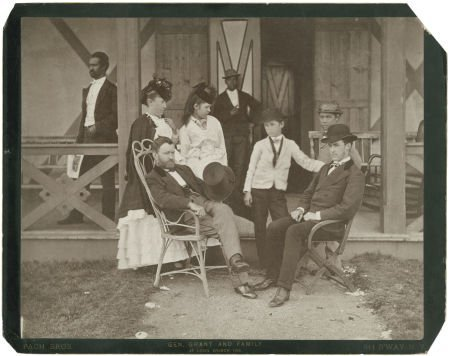 35271: Ulysses Grant and Family Imperial Cabinet Card,