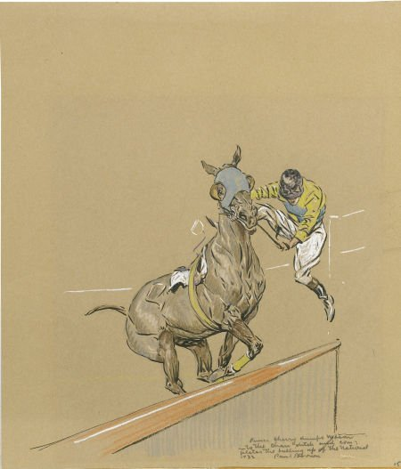87005: PAUL DESMOND BROWN (American 1893 - 1958) Jockey