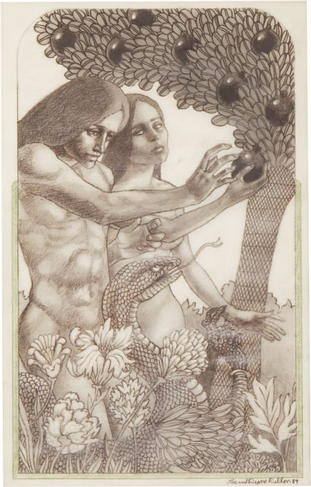 87015: LEO AND DIANE DILLON (American b. 1933) Adam and