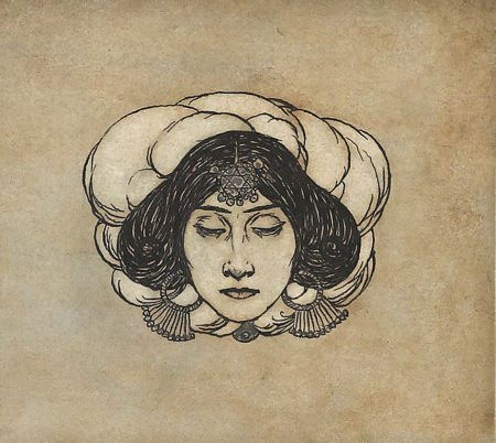 87017: EDMUND DULAC (English/French 1862 - 1953) Head o