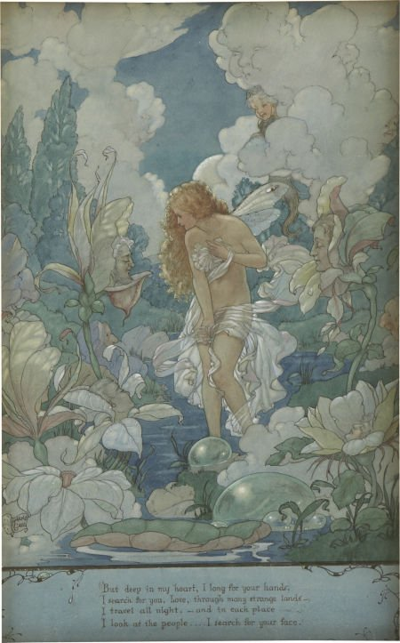87022: HAROLD GAZE (American 1884 - 1963) Water Fairy,