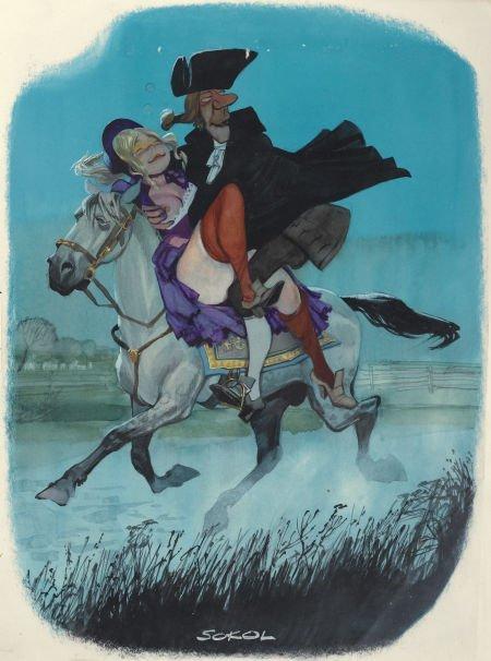 87387: ERICH SOKOL (American b. 1933) Playboy cartoon i