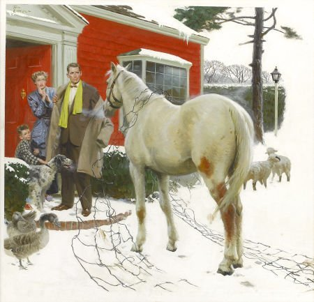 87202: TOM LOVELL (American 1909 - 1997) Welcome Home,