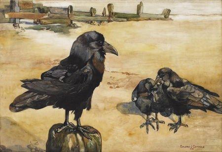 88006: EDWARD JULIUS DETMOLD (English 1883 - 1957) Thre