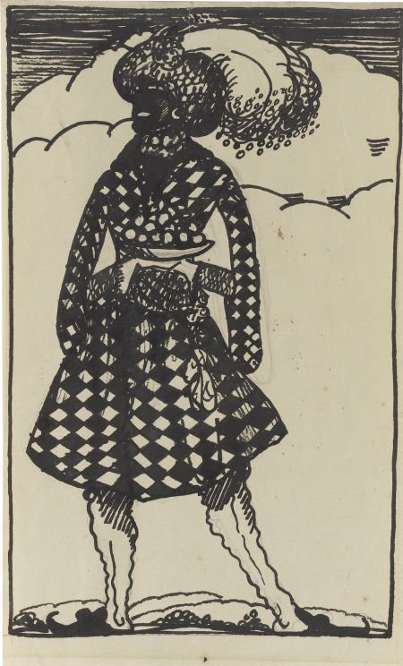 88011: CLAUDE LOVAT FRASER (English 1890 - 1921) Blacka