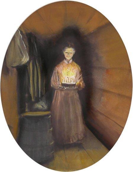 88020: TASHA TUDOR (American 1915 - 2008) Woman with Bi