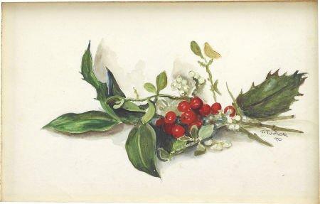 88022: TASHA TUDOR (American 1915 - 2008) Mistletoe, 19