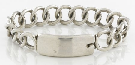 71011: A MEXICAN SILVER IDENTITY  BRACELET William Spra
