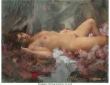 31047: Ramon Kelly (American, b. 1939) Nude, 1983 Paste