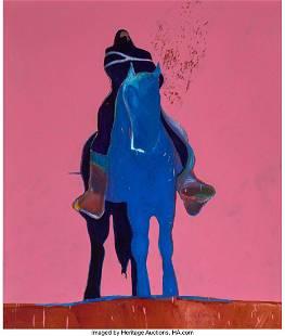 68024: Fritz Scholder (American, 1937-2005) Indian on B