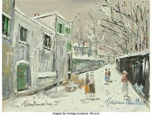 69007: Maurice Utrillo (French, 1883-1955) Rue Saint-Vi