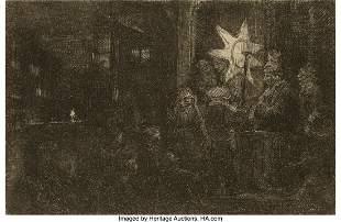 69075: Rembrandt van Rijn (Dutch, 1606-1669) The Star o
