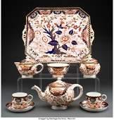 63280: A Nine-Piece Royal Crown Derby Porcelain Cabaret