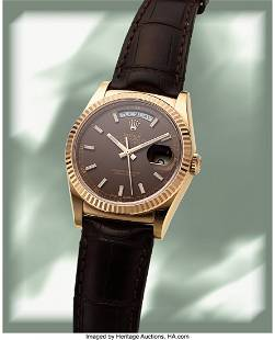 """Rolex, 18k """"Everose"""" Gold Oyster Perpetual Day-D"""