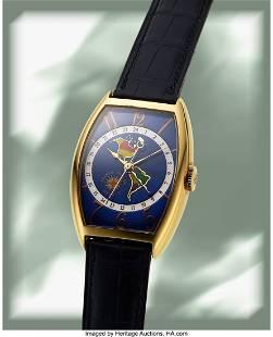 Franck Muller, America's GMT, 18k Gold, Enamel D