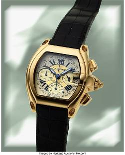 Cartier, Roadster Chronograph, 18k Gold, Ref. 26