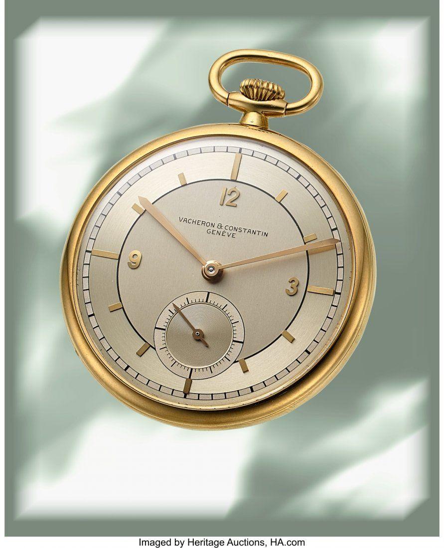 Vacheron & Constantin, Very Fine 18k Gold Pocket
