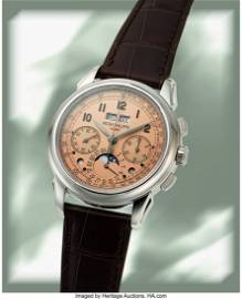 54120: Patek Philippe, Very Fine and Rare Ref. 5270P, P