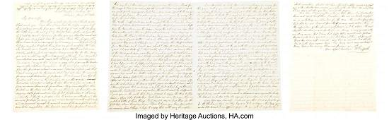 40145: Two letters from Confederate General Richard Gri