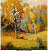 27017: Carl R. Krafft (American, 1884-1938) Fall Landsc