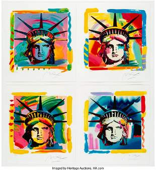 28143: Peter Max (American, b. 1937) The Liberty Heads