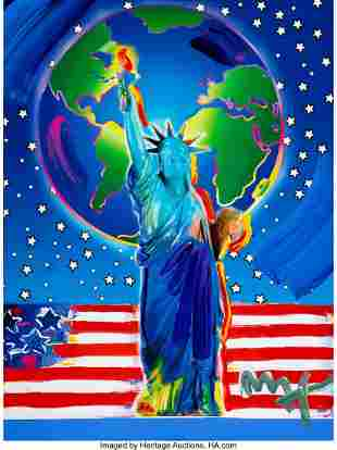 28145: Peter Max (American, b. 1937) Peace on Earth Acr