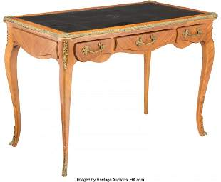 28088: A Louis XV-Style Gilt Bronze Mounted Desk with L