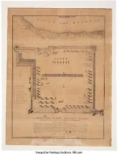 43221: Fort Defiance: 1836 Joseph Chadwick Map of Col.