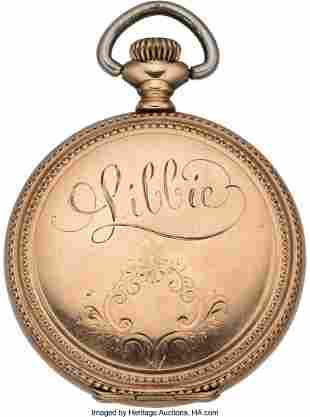 "43226: ""Libbie"" Custer: Engraved Watch Presented to Cus"