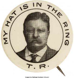 "43098: Theodore Roosevelt: Classic ""Hat in the Ring"" Pi"