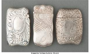 27092: Three Gorham Mfg. Silver Match Safes, Providence