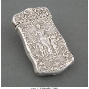 27101: A Gorham Mfg. Co. Silver Match Safe, Providence,