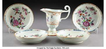 27048: A Group of Five Chinese Export Porcelain Table A