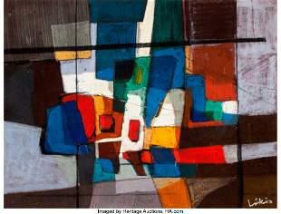 27222: Continental School (20th Century) Untitled Abstr