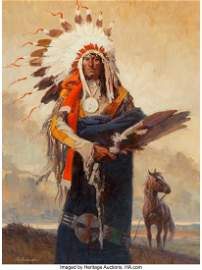 47001: Roy Andersen (American, 1930-2019) Chief Stands