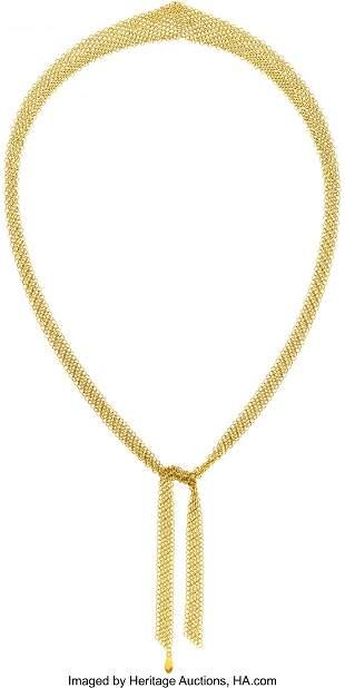 11001: Gold Necklace, Elsa Peretti for Tiffany & Co.  T